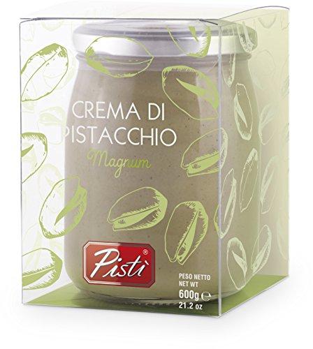 Crema spalmabile di pistacchio preparata con il 45 per cento di pistacchi di sicilia e olio d'oliva extravergine - vaso da 600 grammi