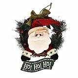 Weihnachten Deko Clode® 29 CM Frohe Weihnachten Party Poinsettia Kiefer Kranz Tür Wand Girlande Dekoration (Grün)