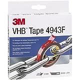 3M, Vhb 4943, High-Performance Tape, 19 mm X 3 M, Grijs, Beschermafdekking: Folie (1-Pack)