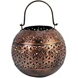 Anil Art & Craft Iron Tealight Round Candle Holder, Decorative, Party Decoration, (16 Cm X 16 Cm X 16 Cm, Bronze)