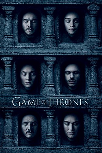 Game of Thrones-Maxi Poster, motivo facce Hall di taglio, legno, multicolore