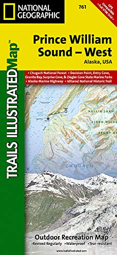 Prince William Sound, West: National Geographic Trails Illustrated Alaska (National Geographic Trails Illustrated Map, Band 761)