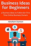 Business Ideas for Beginners (2016): 3 Business Ideas to Follow for First Time Online Business Owners