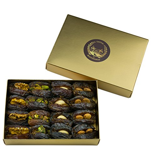Medjool Dates filled with nuts | 16 Pieces | Chateau de Mediterranean | Gift Test