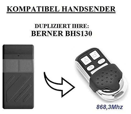 Berner BHS130 kompatibel handsender, klone fernbedienung, 4-kanal 868.3Mhz fixed code. Top Qualität Kopiergerät!!!