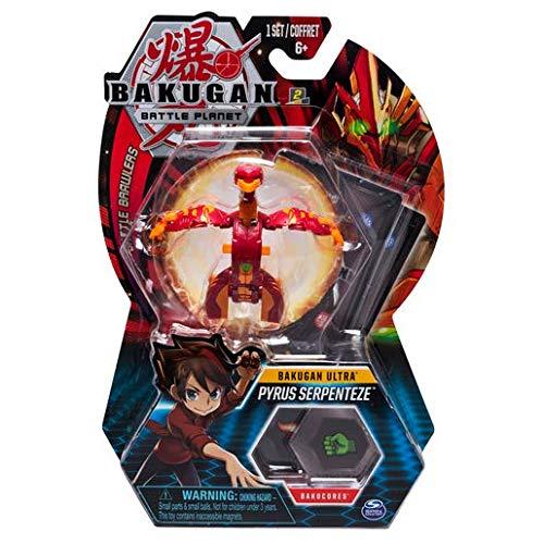BAKUGAN Spin Master Battle Planet - Pyrus Serpenteze - 8cm Ultra Battle Brawlers und Sammelkarte