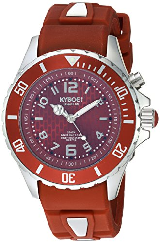 KYBOE Unisex-Adult Analogue Quartz Watch with Silicone Strap FW.40-009.15
