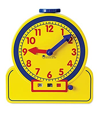 Learning Resources Primary Time Teacher Demonstration 24-Hour Clock from Learning Resources