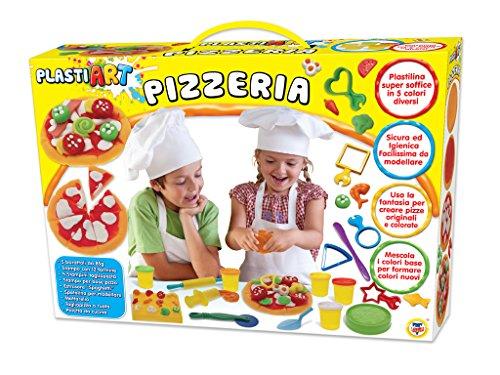Teorema 63921 - plastiart la pizzeria con 5 vasetti di plastilina