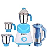 Sunmeet 600 Watts Mixer Juicer Grinder with 4 Jar (1 Juicer Jar,1 Medium Jar,1 Large Jar and 1 Chuntey Jar) Direct Factory Outlet, Save On Retailer margin.