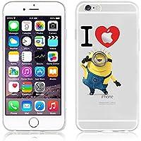 Disney MONSTER UNI. trasparente in poliuretano termoplastico per iPhone-Cover per Apple iPhone 5, 5S, 5C, 6/6S plastica, (iphone6/6s, I LOVE MINIONS)