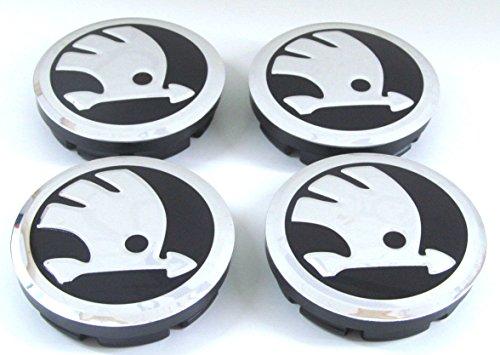4x Skoda neues Logo 56â mm Gap Felgendeckel Radkappen Nabendeckel/Radblende Radzierblende Radkappe