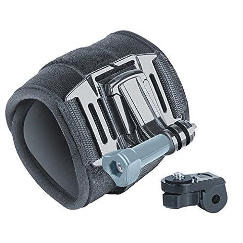 USA Gear Action Kamera Armband / Handgelenkband Halterung und J Hook für Ricoh WG-M1 ActionCam WIFI 2.0 VTIN HD WiFi Actioncam GoPro HERO4 HERO5