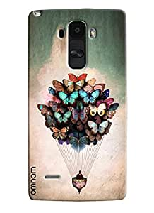 Omnam Person Flying With Butterfly Beautifully Created Printed Designer Back Cover Case For LG G4 Stylus