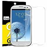 Verre Trempé Samsung Galaxy S3, NEWC® Film Protection en Verre trempé écran Protecteur vitre ANTI RAYURES SANS BULLES D'AIR Ultra Résistant Dureté 9H Protector pour Samsung Galaxy S3