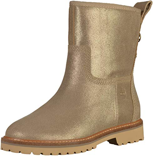 Timberland CA1P5W Womens Gold Leather Booties  41