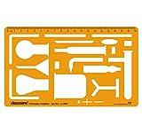 Chemie Chemical Engineering Science Entwurf und Design-Vorlage Stencil Symbole Technische Zeichnung Maßstab Template