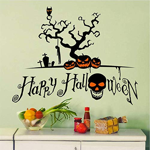 WUDHF Wandkunst DIY Halloween Kürbis Schablone Wand Designs Wandaufkleber Fenster Dekoration Aufkleber Dekor (Diy Halloween Schablonen)