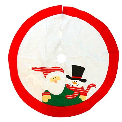Teppich Santa (Weihnachtsbaum Rock Dekoration Santa Schneemann 100cm Abdeckung rund Boden Ständer Teppich)