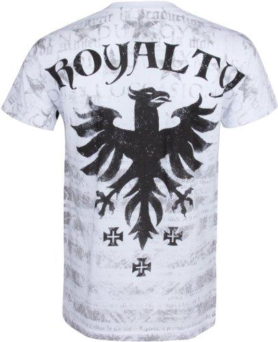 Sakkas Royalty Dragon T-Shirt aus Baumwolle für Männer Weiß