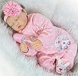 ZIYIUI Real Sleeping Reborn Mädchen Reborn Baby Puppe 22 inch 55 cm Soft Silikon Vinyl Realität Kind Magnetische Geburtstagsgeschenk
