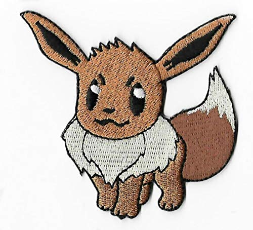 Eevee Pokemon Patch Embroidered Iron on Badge