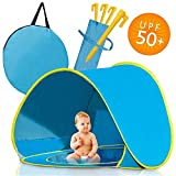 Homened Pop Up Baby Beach Tent, Portable Kiddies Shade Pool Tent 50 SPF