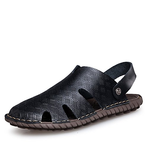 mens-black-khaki-outdoor-genuine-leather-sandals-black-us-9