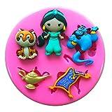 Prinzessin Jasmin Genie Rajah Aladdin Silikonform Form für Kuchen dekorieren KUCHEN, Cupcake Topper Zuckerguss Sugarcraft von Fairie, Blessings