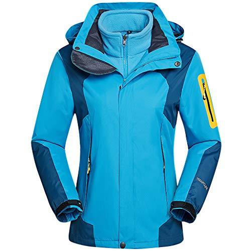 Frau Outdoor-Jacke Hooded - Erwachsene Abnehmbar Zweiteiliges Set Warm Skijacke Winddicht