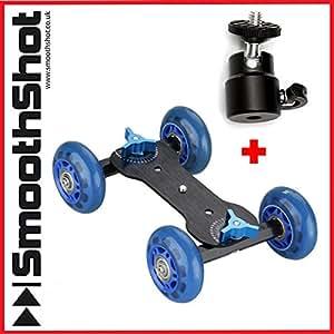 Kamera Dolly Auto Rad Skater Roller Slider mit Kamera Stativ Kopf Halterung für DSLR SLR Video Kameras