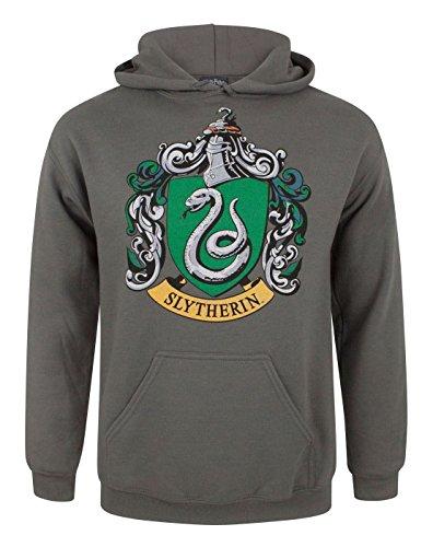 Harry Potter Slytherin Crest Men's Hoodie (M) (Crest Vanille)