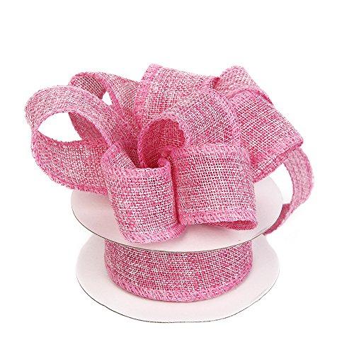 David accessories Geschenkpapier, Jute Band, perfekt für Hochzeit Home Dekoration Handwerk Bögen, handgefertigt mit 1–1/2-inch von 10-yard Spule rose (Natürlichen 10 Yard)