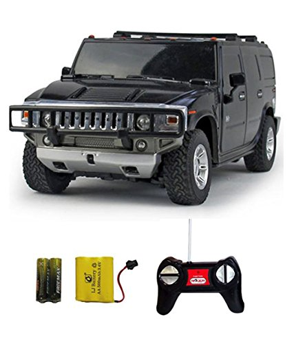Shopcros Racer R-C Rechargeable 1:24 Hummer H2 Suv Black  available at amazon for Rs.899