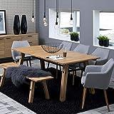 lounge-zone Esstisch Esszimmertisch Stavanger Eiche Furnier Optional verlängerbar 210/300cm 12592
