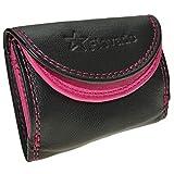 Kleine handliche Party Disco Geldbörse in Schwarz/Pink mit RFID Schutz