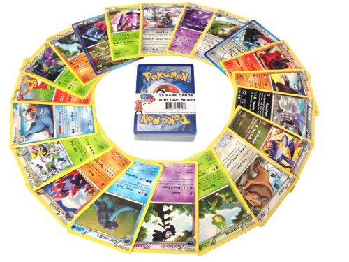 25cartes Pokemon Rare avec 100HP ou plus (Lot avec aucun distribue)