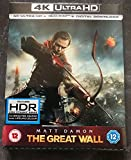 The Great Wall Steelbook UK Exclusive 4K Ultra HD Steelbook Includes Blu-ray + Digital Download Region Free