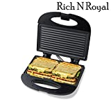 Buyerzone Rich N Royal Non-Stick Grill Sandwich Maker (Black)