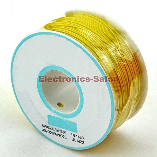 electronics-salon-amarillo-30-awg-aislamiento-prueba-de-envolver-cable-solido-de-cobre-estanado-de-a