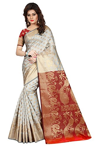 Hinayat Fashion Silk Saree (Nht01Sri517_Off White_Free Size)