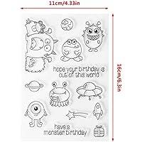 Lunji Clear Stamp Sello De Silicona Hoja Cumpleaños Desea DIY Álbum De Tarjeta De Artesanía Scrapbook S39