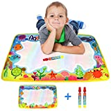 Aqua Water Doodle Mat, Magic Doodle Drawing Painting Pad Multi Coloured Two Water Pens Quality Rangebow Product For Boys Girls and Toddlers Two Years Plus (Sea Creatures GC00612)