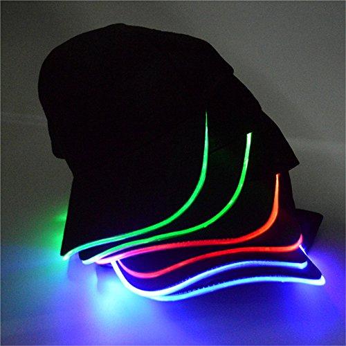 LED Kappe Base cap Schildmütze Einstellbarer Hut Baseball Blitz Käppi mit LEDs Blinkt für Party Club Bar Sportlich Reise Tour Sport Golf Hip-Hop LED-beleuchtet,LED-Taschenlampen Hüt