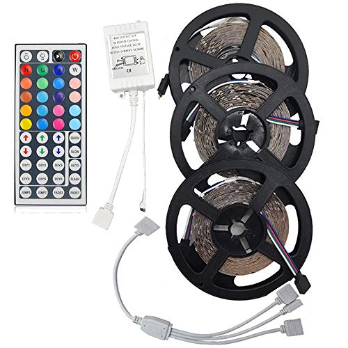 15m RGB LED Band Lichtsets LED Strip 900 LEDs 3528 SMD Fernbedienungskontrolle Schneidbar bblendbar Verbindbar Farbwechsel IP44
