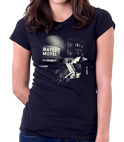 35mm - Camiseta Mujer Bates Motel - Series Tv - Women'S T-Shirt, NEGRA, S