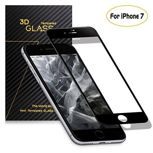 SENDIS Protector de Pantalla para iPhone 7 Cobertura Completa, Cristal Templado, color negro