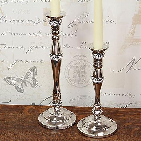 Altezza 29 cm Candeliere con (La Maison Cristallo)