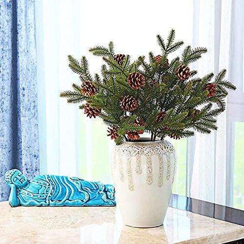 Artificial Dried Flowers - 53cm Christmas Tree Decorative Artificial Flowers Pine Needles With Cones Fake - Artificial Flowers Dried Artificial Dried Flowers Bump Branch Sakura Cone Pendant