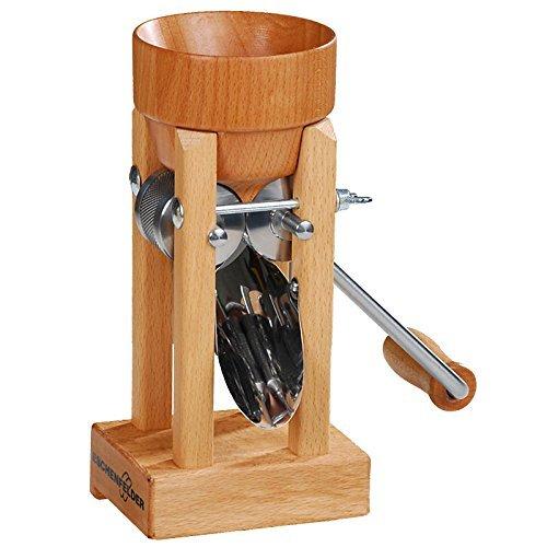 Eschenfelder Korn-Quetsche Tischmodell Holztrichter, Holz, 20